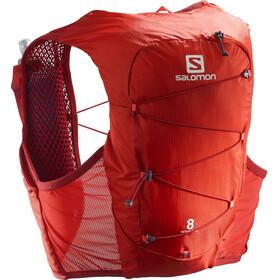 Salomon Active Skin 8 Set de mochila, rojo